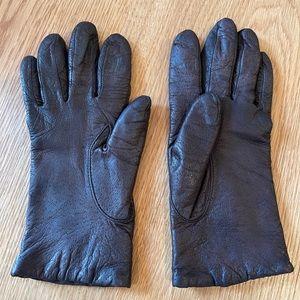 Vintage Hanes Her Way Brown Leather Gloves
